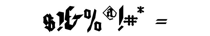WaldarbeiterGotisch Font OTHER CHARS