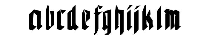 WaldarbeiterGotisch Font LOWERCASE
