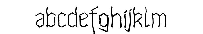 Waldschraz Font LOWERCASE