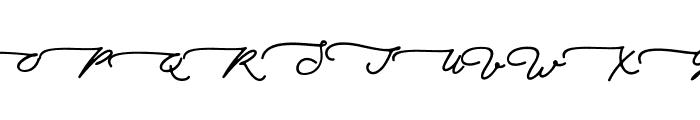 Walfords Font UPPERCASE