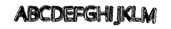 WalkingDead Font UPPERCASE