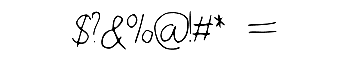 WalkonFire Font OTHER CHARS