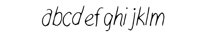 WalkonFire Font LOWERCASE