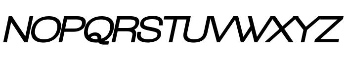 Walkway Oblique Black Font UPPERCASE