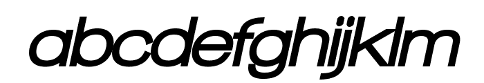 Walkway Oblique Black Font LOWERCASE