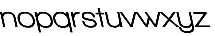 Walkway UltraBold RevOblique Font LOWERCASE