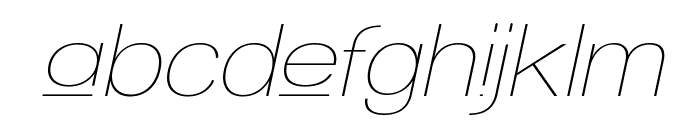 Walkway Upper Oblique Font LOWERCASE