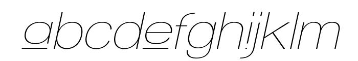 Walkway Upper Oblique Font LOWERCASE