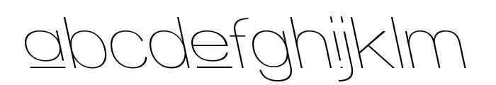 Walkway Upper RevOblique Font LOWERCASE