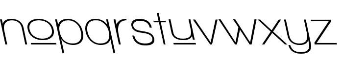 Walkway Upper SemiBold RevObl Font LOWERCASE