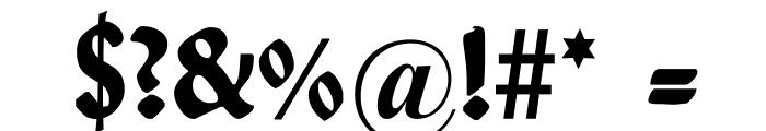 WallauUnzial-Bold Font OTHER CHARS