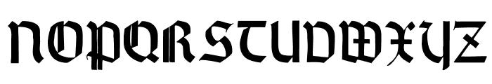 WallauZierBold Font LOWERCASE