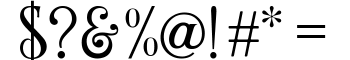 Wallington Regular Font OTHER CHARS