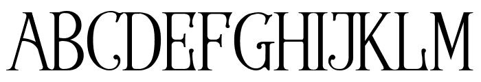 Wallington Regular Font UPPERCASE