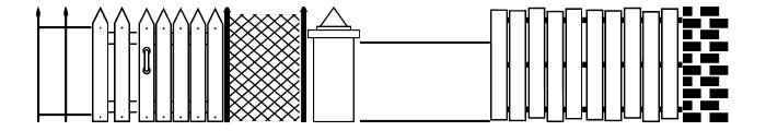 Walls, Fences & Doors JL Font LOWERCASE