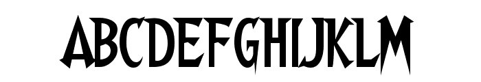 Walshes Font UPPERCASE