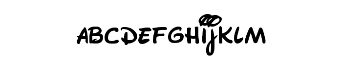 Walt Disney Script Font LOWERCASE