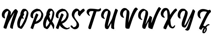 Wandertucker Font UPPERCASE
