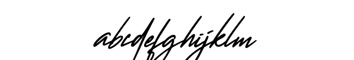 Wanted Signature Font LOWERCASE