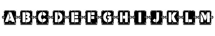 Waponi Font UPPERCASE