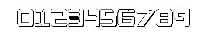 War Eagle 3D Condensed Font OTHER CHARS