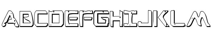 War Eagle 3D Condensed Font UPPERCASE