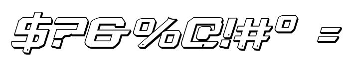 War Eagle 3D Italic Font OTHER CHARS