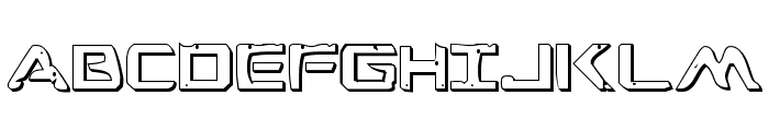 War Eagle 3D Font LOWERCASE