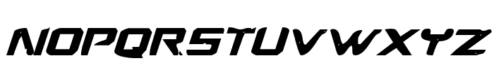 War Eagle Bold Italic Font LOWERCASE