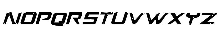 War Eagle Italic Font UPPERCASE