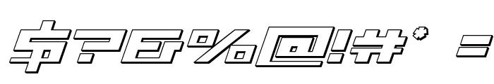 War Machine 3D Font OTHER CHARS