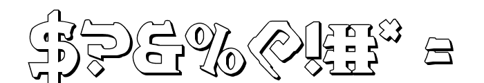War Priest 3D Regular Font OTHER CHARS