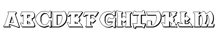War Priest 3D Regular Font UPPERCASE