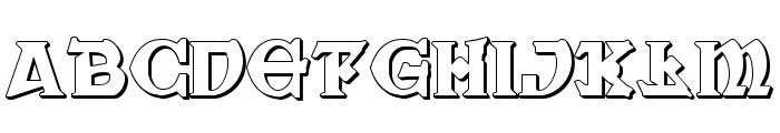 War Priest 3D Regular Font LOWERCASE