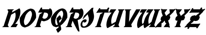 War Priest Condensed Italic Font UPPERCASE