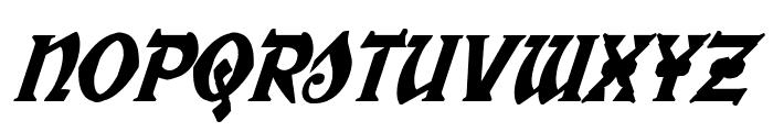 War Priest Condensed Italic Font LOWERCASE