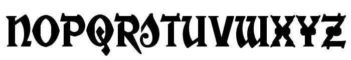 War Priest Condensed Font UPPERCASE