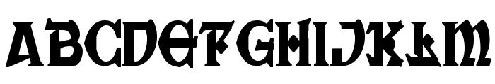 War Priest Condensed Font LOWERCASE