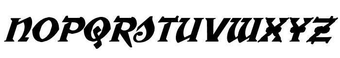 War Priest Italic Font UPPERCASE
