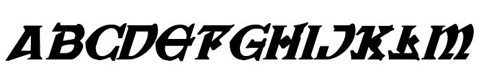 War Priest Italic Font LOWERCASE