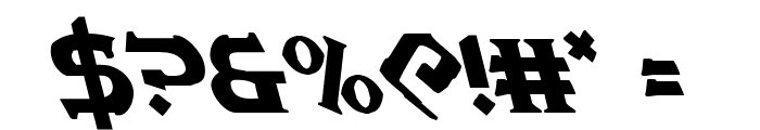 War Priest Leftalic Font OTHER CHARS