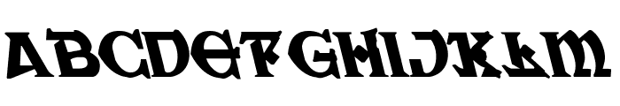 War Priest Leftalic Font LOWERCASE