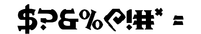 War Priest Regular Font OTHER CHARS