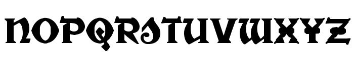 War Priest Regular Font LOWERCASE