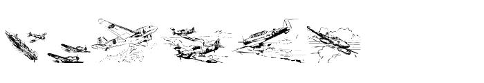 WarIIWarplanes Font LOWERCASE