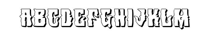 Warlock's Ale 3D Font LOWERCASE