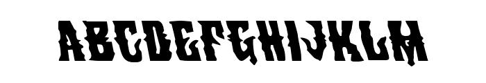Warlock's Ale Leftalic Font UPPERCASE