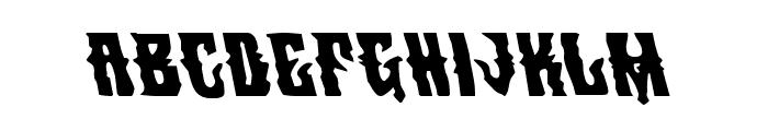 Warlock's Ale Leftalic Font LOWERCASE