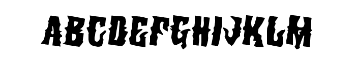 Warlock's Ale Rotated 2 Font UPPERCASE