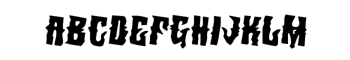 Warlock's Ale Rotated 2 Font LOWERCASE